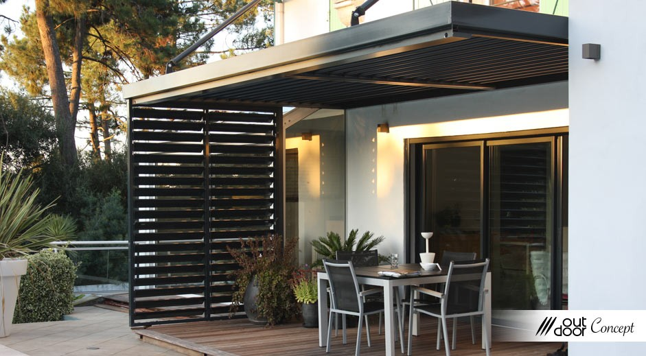 pergola bioclimatique outdoorconcept. Black Bedroom Furniture Sets. Home Design Ideas